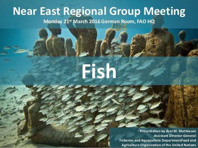 Near East Regional Group Meeting Monday 21st March 2016 German Room, FAO HQ 1 Presentation by Árni M. Mathiesen Assistant ...