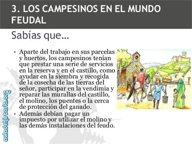 3. LOS CAMPESINOS EN EL MUNDO FEUDAL  Sabías que… • Aparte del trabajo en sus parcelas y huertos, los campesinos tenían qu...