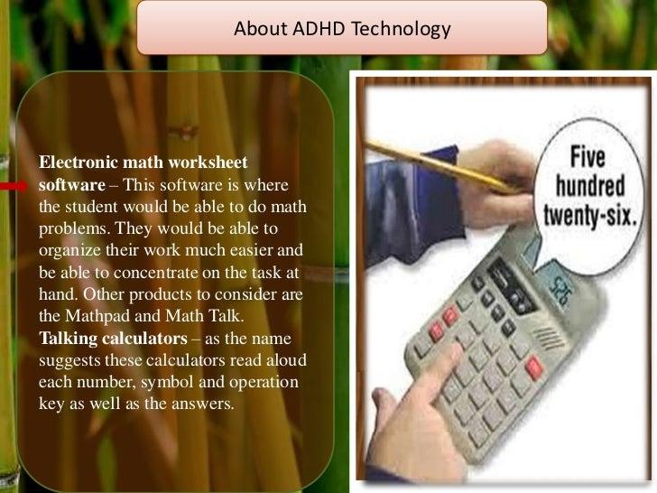 ADHD – Math Worksheet Software