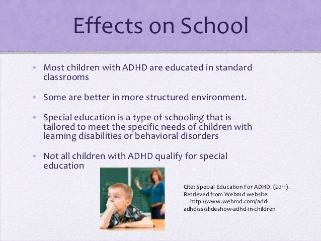 Adhd And Special Education >> Adhd