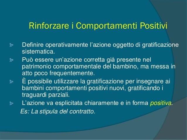 Il ruolo dello specialista: Intervento Cognitivo-Comportamentale