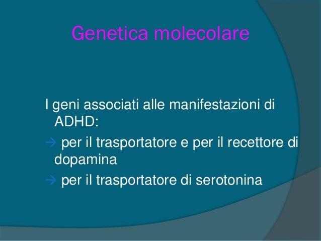 UN'IPOTESI PER L'ADHD  Mal regolato sistema di attivazione e di controllo della vigilanza (Formazione reticolare)  Disfu...