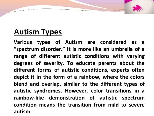 autism spectrum disorder a transition from