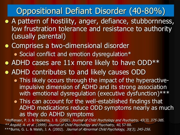 The causes and etiology of oppositional defiant disorder