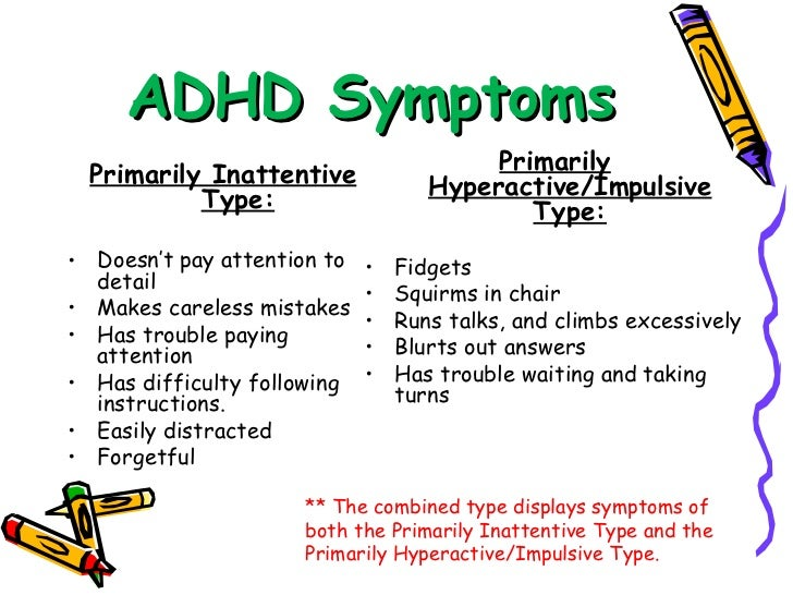 the main characteristics of attention deficit disorder Attention deficit hyperactivity disorder (adhd) is a developmental disorder   behavior that is marked by the reverse characteristics and a mixed type  has  adhd, compared to a 4% to 6% probability for someone in the general  population.
