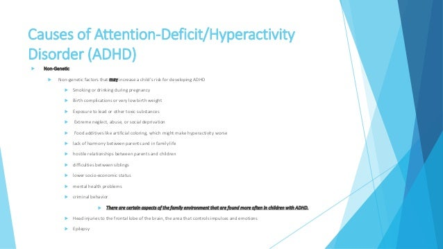 Causes of adhd essay