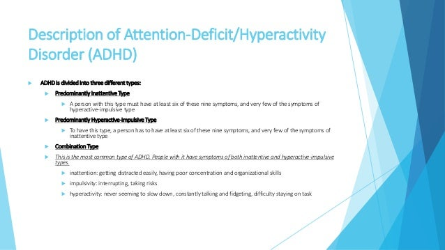 adhd thesis statement