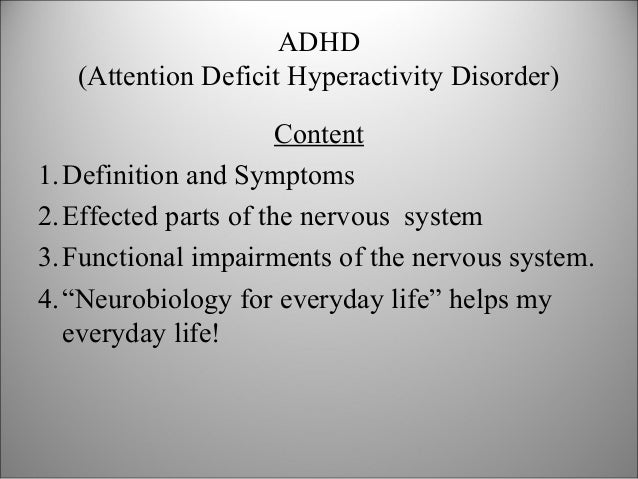 Adhd Essays and Term Papers