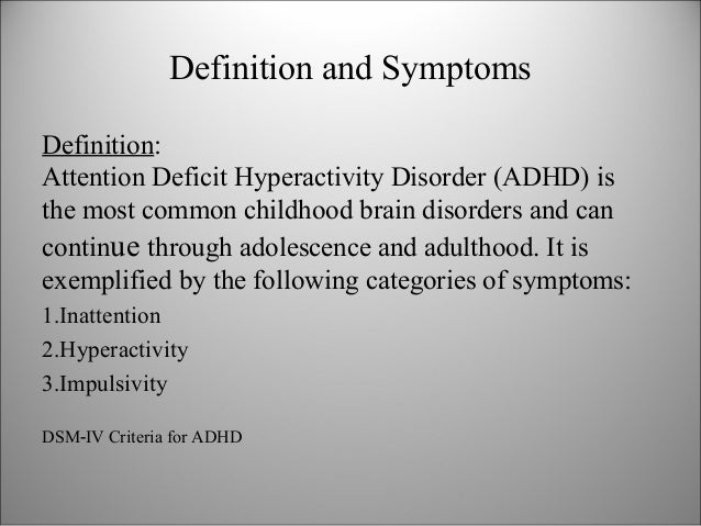 attention deficit disorder thesis statement Statement of the hypotheses and research questions   2000) while this  thesis does not set out to prove whether or not adhd is a valid.