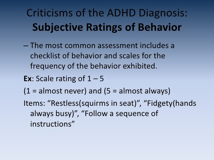 the symptoms and diagnosis of adhd Could your child's trouble with hyperactivity or focus be a symptom of adhd use this checklist to learn about signs of attention-deficit disorder at different ages.