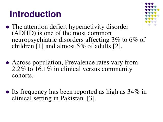 Attention Deficit Disorder and ADHD