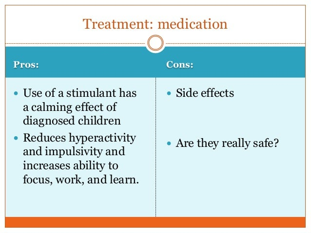 the effects of stimulants on adhd children A large body of research shows that stimulant medications used to treat adhd are very effective, and the effect is even more powerful for kids who engage in behavioral therapy along with medication because people with adhd are a higher risk of developing a substance use disorder later on, and untreated adhd is associated with poor academic performance, most experts recommend treating adhd with medication.