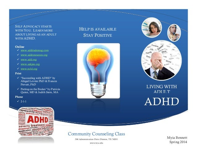 adult adhd dallas resources  trifold brochure