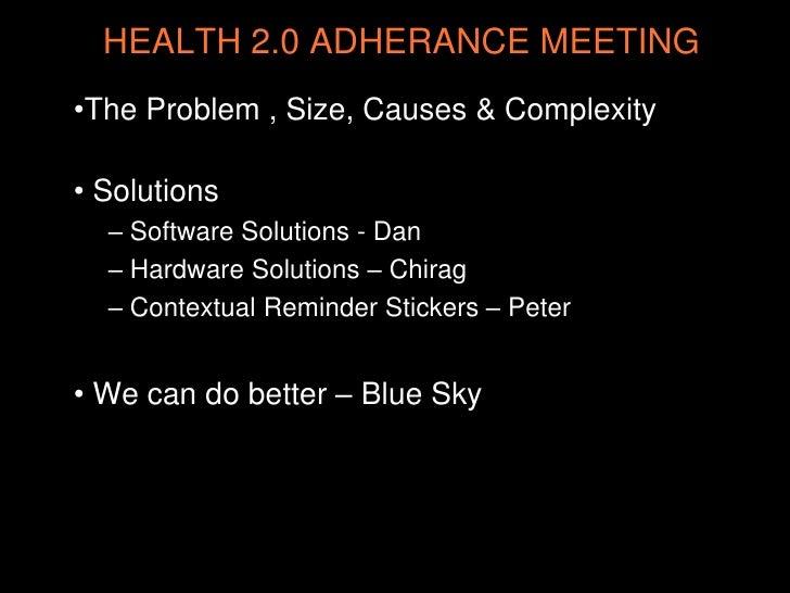 """""""Medication Compliance"""" by Dan Bernstein (Chicago Health 2.0) Slide 2"""