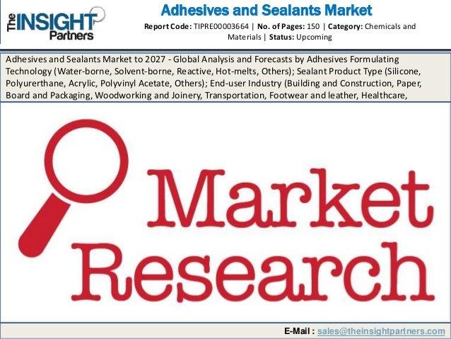 Adhesives and sealants market 2019-2027: Breakdown by Key