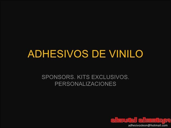 ADHESIVOS DE VINILO SPONSORS. KITS EXCLUSIVOS. PERSONALIZACIONES [email_address]