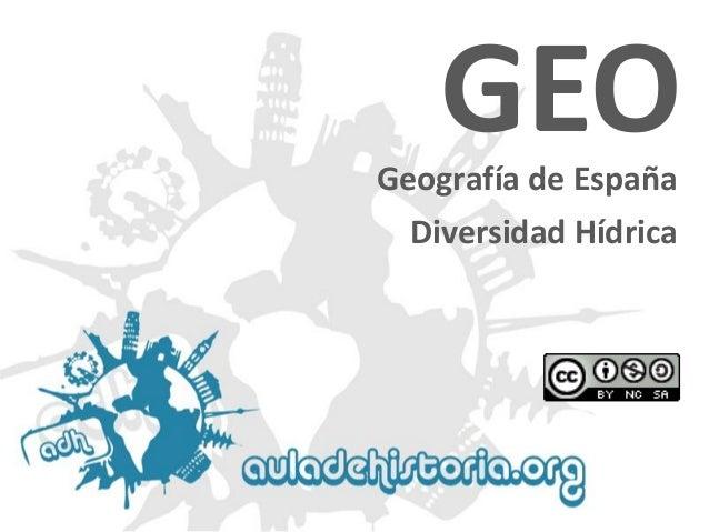 Geografía de EspañaGEODiversidad Hídrica