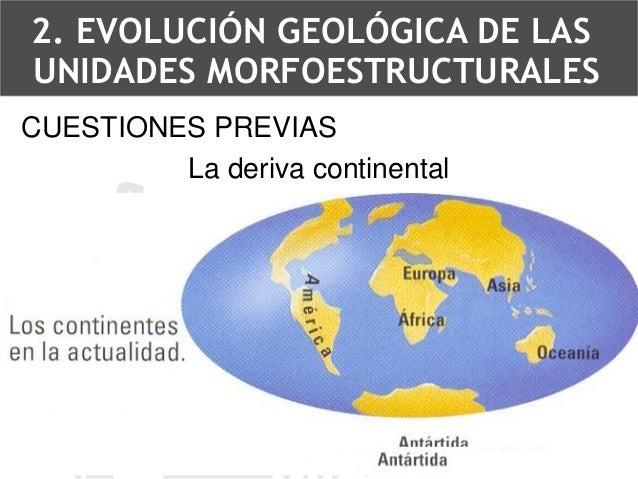 Tectónica de placas2. EVOLUCIÓN GEOLÓGICA DE LAS UNIDADES MORFOESTRUCTURALES