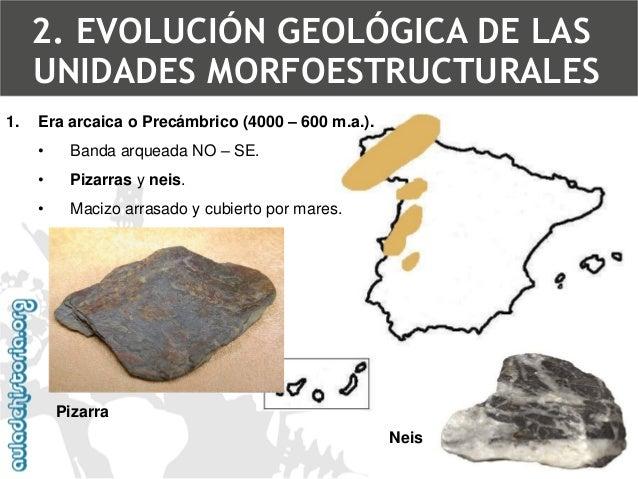 2.Era primaria o Paleozoico (600 –225 m.a.).  •Orogénesisherciniana (hace entre 350 y 300 m.a.). 2. EVOLUCIÓN GEOLÓGICA DE...