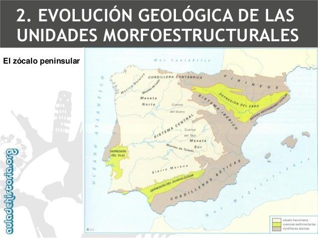 El zócalo peninsularZócalo2. EVOLUCIÓN GEOLÓGICA DE LAS UNIDADES MORFOESTRUCTURALES