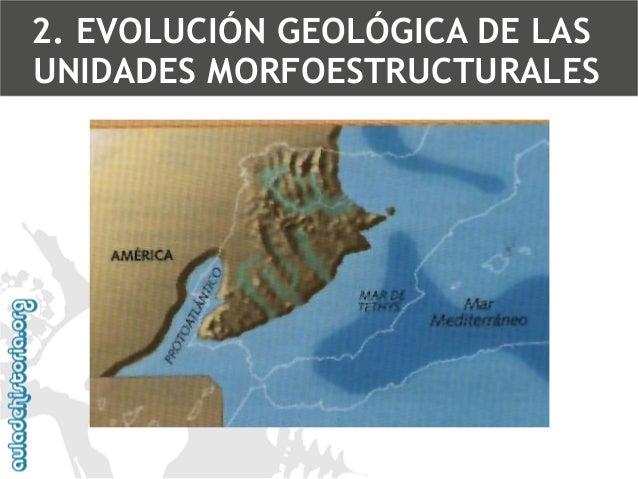 Zonas de regresiones y transgresiones marinas2. EVOLUCIÓN GEOLÓGICA DE LAS UNIDADES MORFOESTRUCTURALES