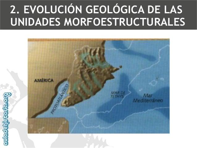 Fosas sedimentariasZonas de regresiones y transgresiones marinas2. EVOLUCIÓN GEOLÓGICA DE LAS UNIDADES MORFOESTRUCTURALES