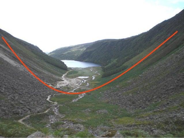 La retirada de los glaciares puede formar lagos, como estos de Glendalough (Irlanda), separados por unamorrena  5.Era cuat...