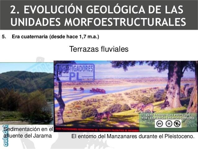5.Era cuaternaria (desde hace 1,7 m.a.)  Proceso de formación de las terrazas fluviales2. EVOLUCIÓN GEOLÓGICA DE LAS UNIDA...