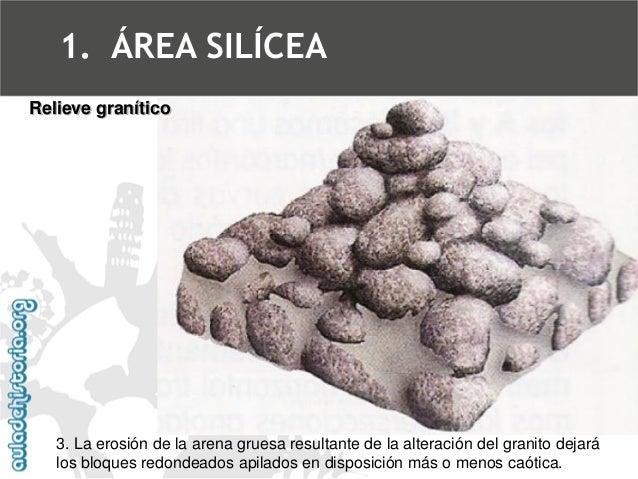 Berrocal y caos graníticoRelieve granítico  1.ÁREA SILÍCEA
