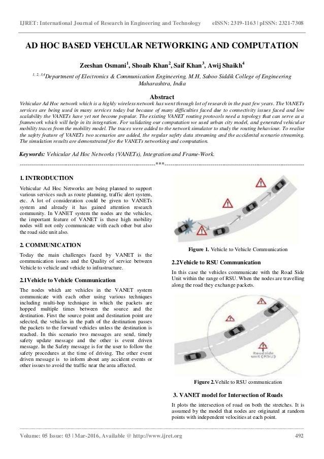 Ad hoc based vehcular networking and computation