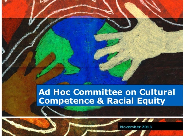 Ad Hoc Committee on Cultural Competence & Racial Equity November 2013