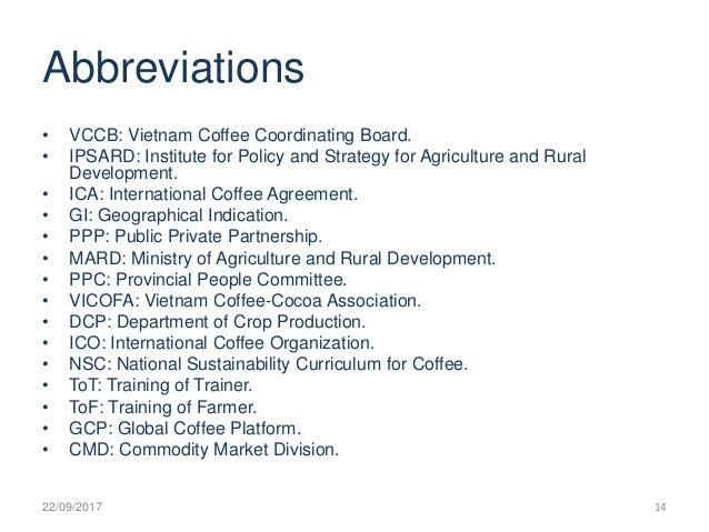 Vietnam Coffee Sector Restructuring Plan And Vccb