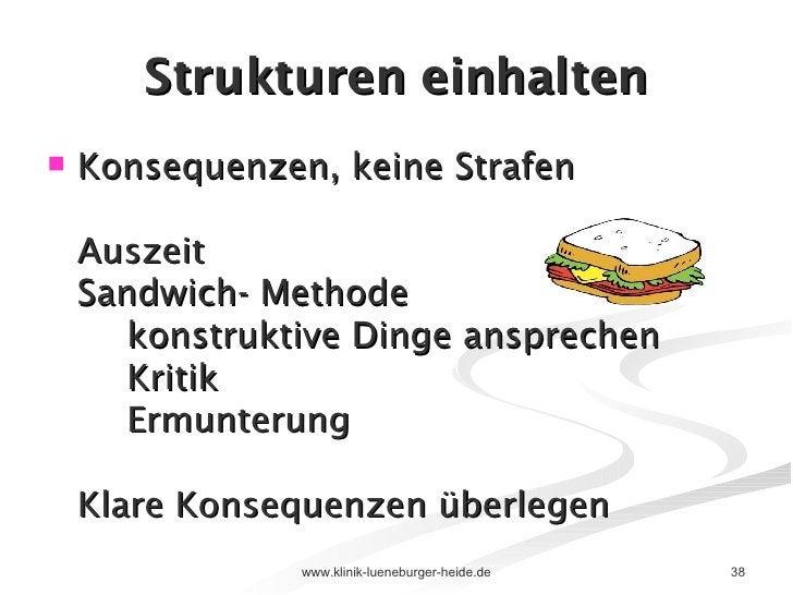 Strukturen einhalten <ul><li>Konsequenzen, keine Strafen Auszeit Sandwich- Methode konstruktive Dinge ansprechen Kritik Er...