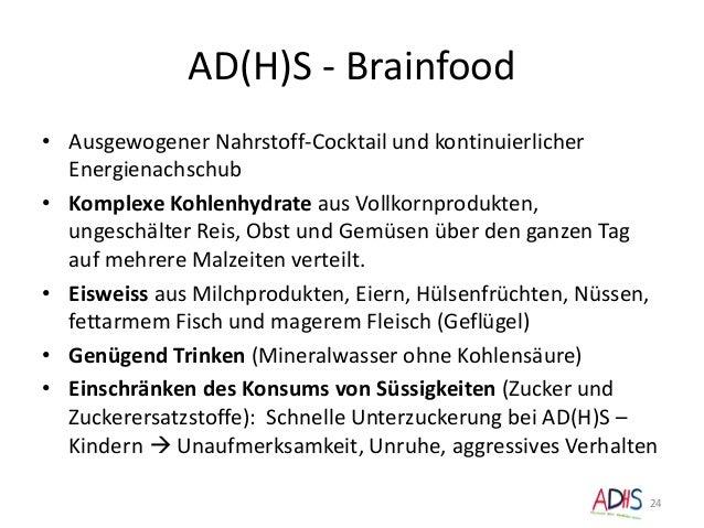 AD(H)S - Brainfood • Ausgewogener Nahrstoff-Cocktail und kontinuierlicher Energienachschub • Komplexe Kohlenhydrate aus Vo...