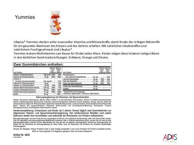 Lifeplus® Yummies stecken voller essenzieller Vitamine und Mineralstoffe, damit Kinder die richtigen Nährstoffe für ein ge...
