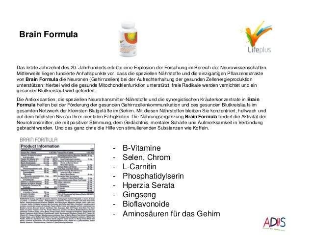Brain Formula Das letzte Jahrzehnt des 20. Jahrhunderts erlebte eine Explosion der Forschung im Bereich der Neurowissensch...