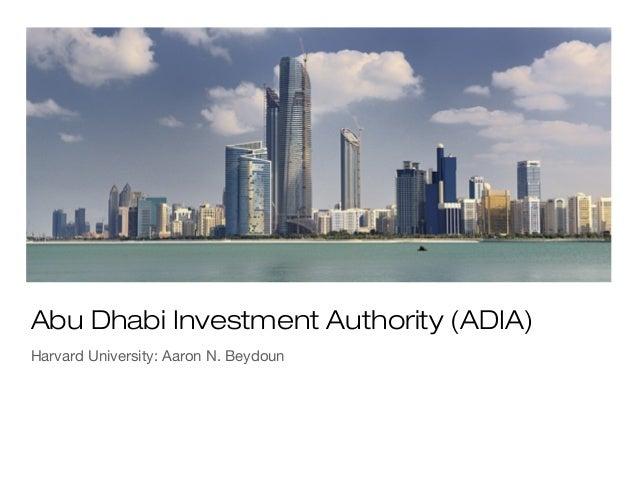 Abu Dhabi Investment Authority (ADIA)Harvard University: Aaron N. Beydoun