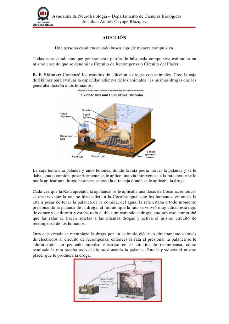 Ayudantia de Neurofisiologia – Departamento de Ciencias Biológicas                         Jonathan Andrés Cayupe Blazquez...