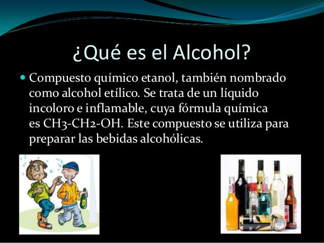 La codificación el proceso del alcohol