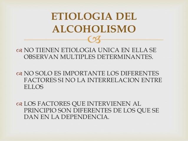 Las tesis por el alcoholismo
