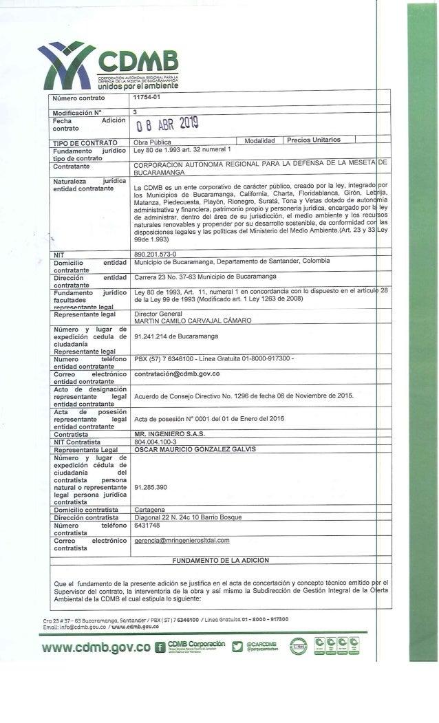 Adición Contrato CDMB
