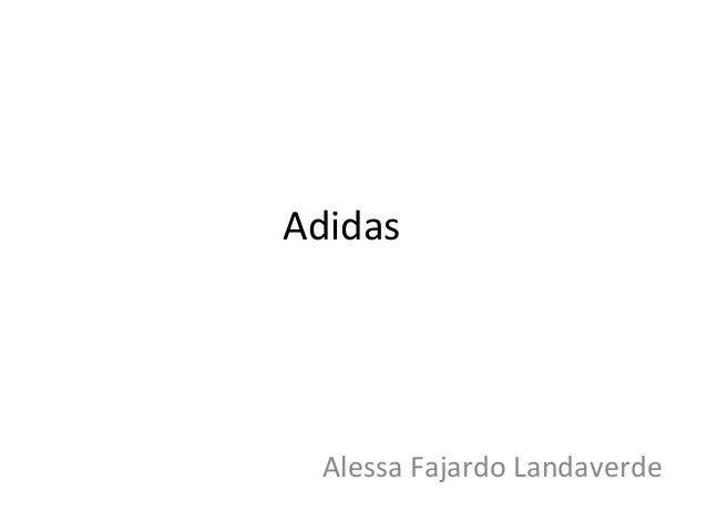 Adidas  Alessa Fajardo Landaverde