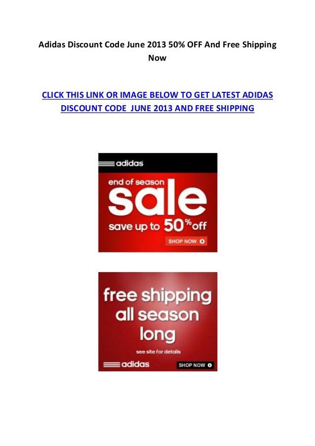 Adidas Discount Code June 2013 50% OFF