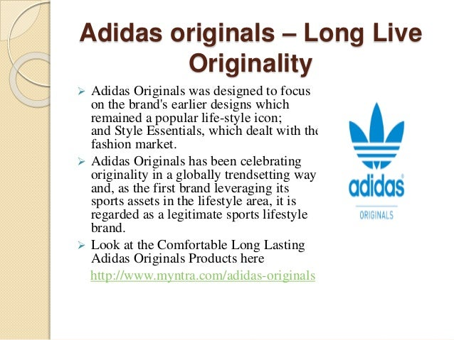 adidas originals slogan