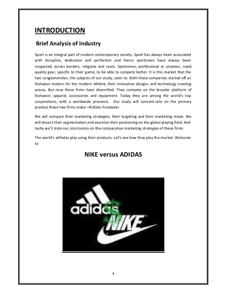 adidas case study marketing mix and A marketing case study on nike written by miles media on april 10,  (marketing) adidas mainly focuses in the european market even though it is known in other parts of the world, which is because of its collaboration with soccer events all over the world and football associations with bodies such as fifa, uefa, leagues, clubs and individual.