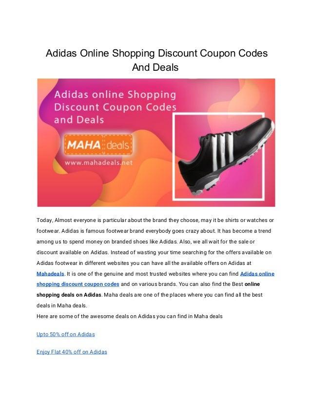 Enjuiciar libertad Abstracción  Adidas Online Shopping Discount Coupon Codes And Deals