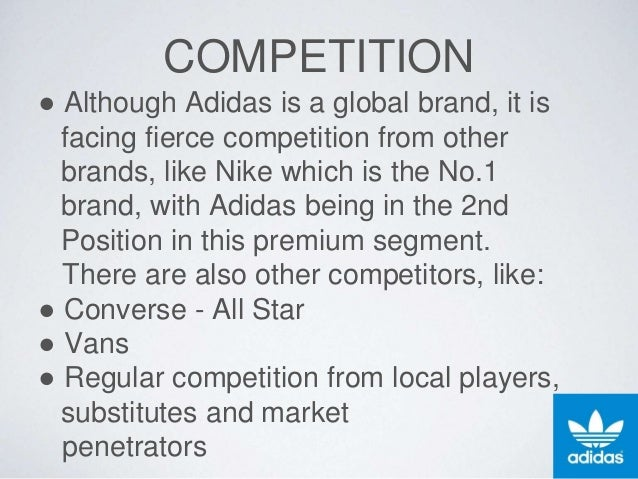 proposal adidas Adidas – the quest for becoming the number one  in the quest for becoming the number one is market, adidas always try  adidas has also a proposal of strategic.