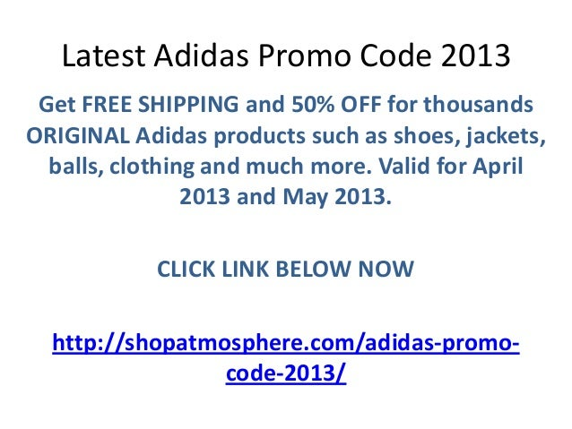 adidas promo code april 2015
