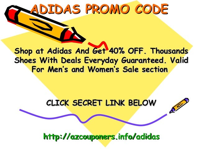 Adidas coupons march 2019