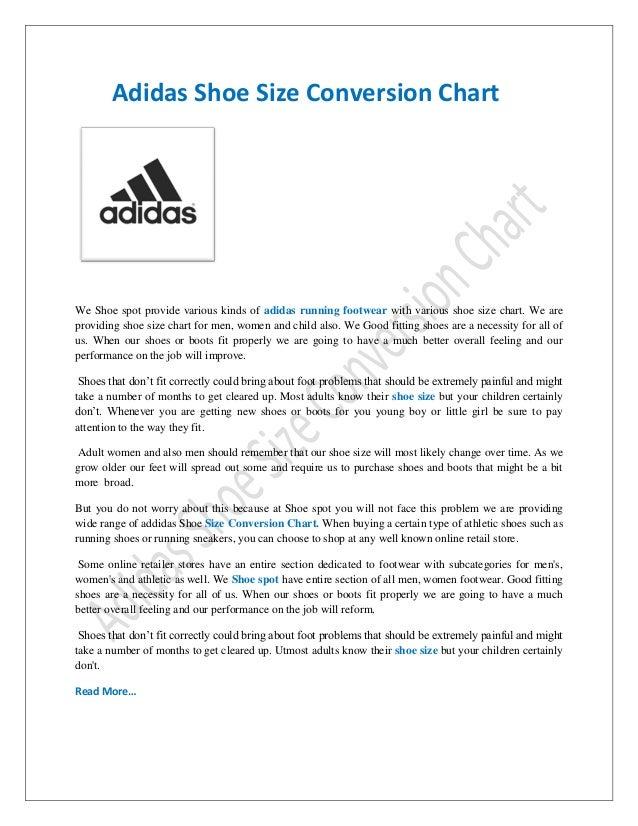 0caffbef1009 Adidas Size Chart